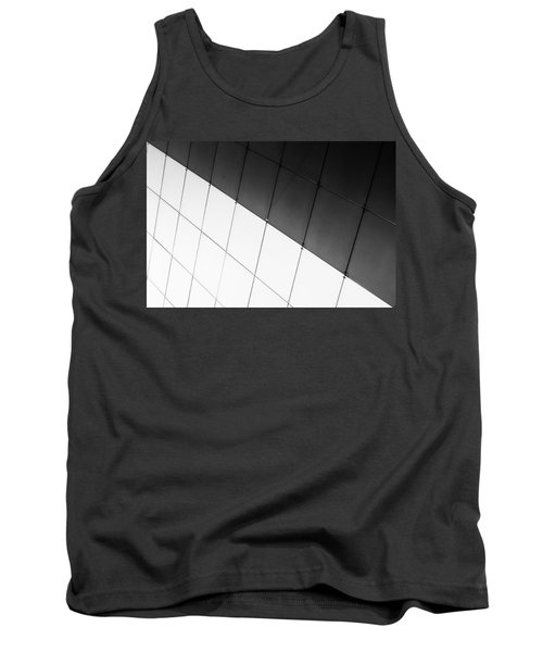 Monochrome Building Abstract 3 Tank Top