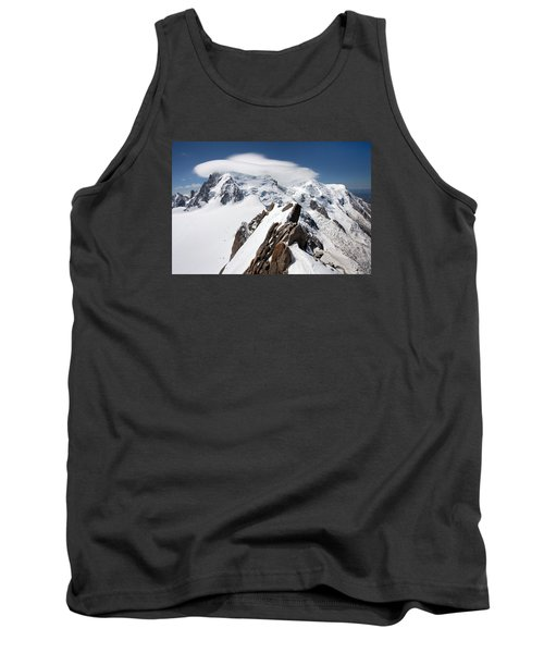 Mont Blanc And Ufo Tank Top by Aivar Mikko