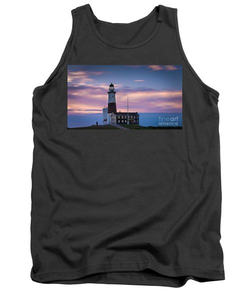 Montauk Lighthousepastel  Sunrise Tank Top
