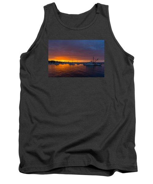 Monterey Marina Sunset Tank Top by Derek Dean