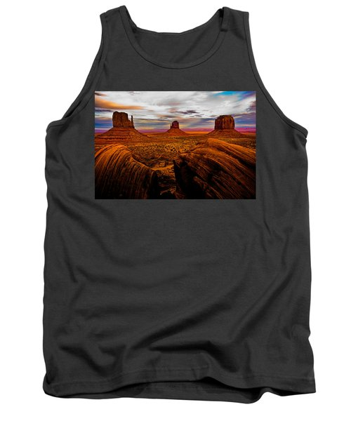 Tank Top featuring the photograph Monument Valley by Harry Spitz