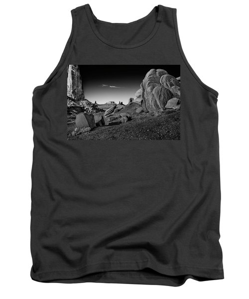 Monument Valley Rock Formations Tank Top by Phil Cardamone