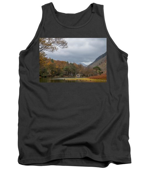 Moody Clouds Over A Boathouse On Wast Water In The Lake District Tank Top