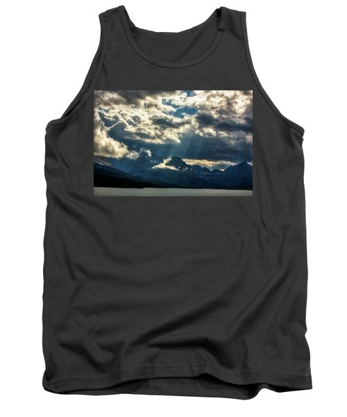 Moody Sunrays Over Glacier National Park Tank Top