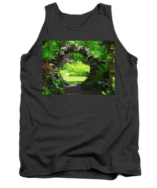 Moon Gate At Kinney Azalea Gardens Tank Top