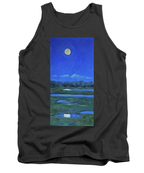 Tank Top featuring the painting Moon Light And Mud Puddles by Billie Colson