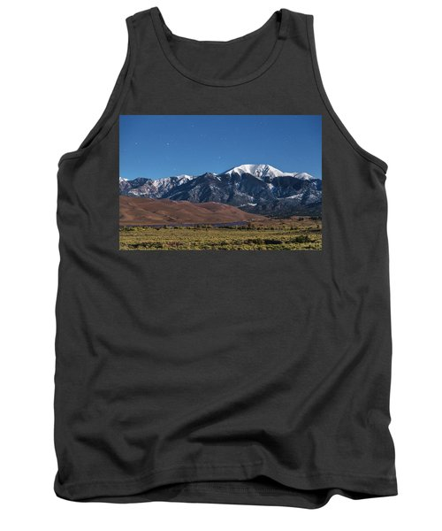 Moon Lit Colorado Great Sand Dunes Starry Night  Tank Top by James BO Insogna