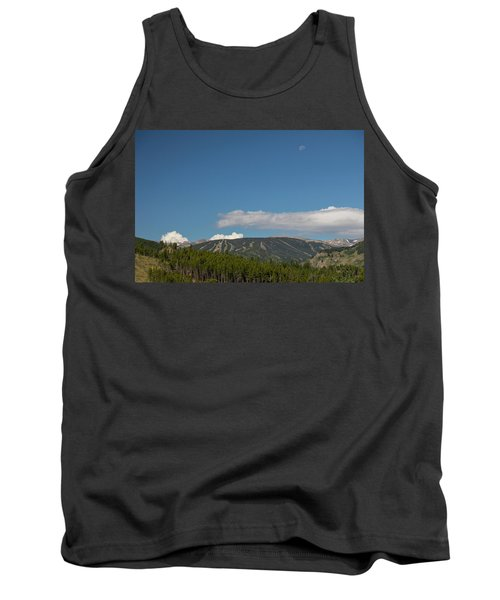 Tank Top featuring the photograph Moon Over Eldora Summer Season Ski Slopes by James BO Insogna
