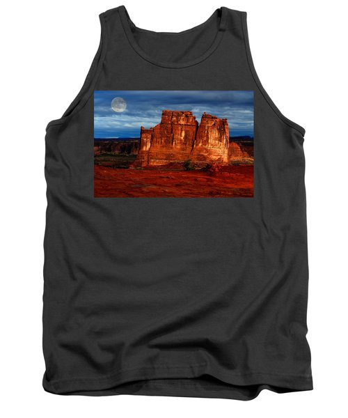 Tank Top featuring the photograph Moon Over La Sal by Harry Spitz