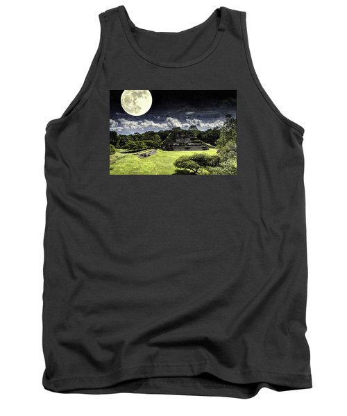 Moon Over Mayan Temple One Tank Top