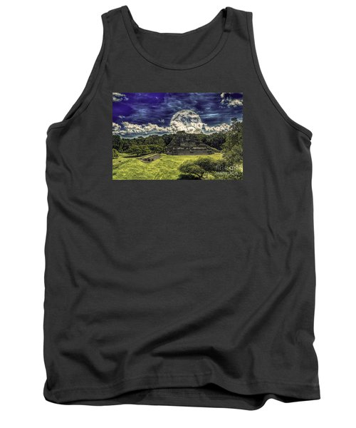 Moon Over Mayan Temple Two Tank Top