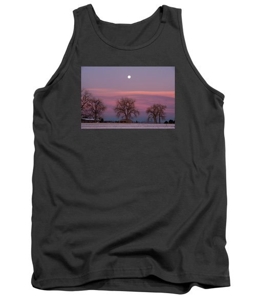 Moon Over Pink Llouds Tank Top by Monte Stevens