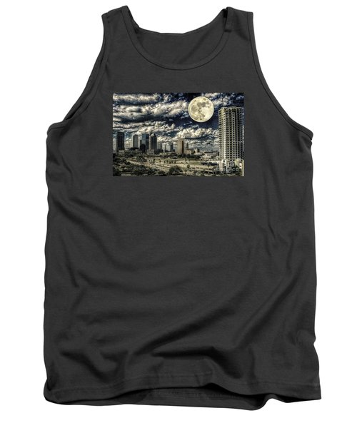 Moon Over Tampa One Tank Top