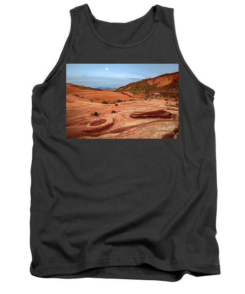 Moon Over Valley Of Fire Tank Top