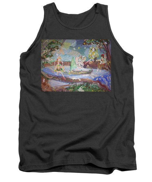 Moon River Fairies Tank Top by Judith Desrosiers