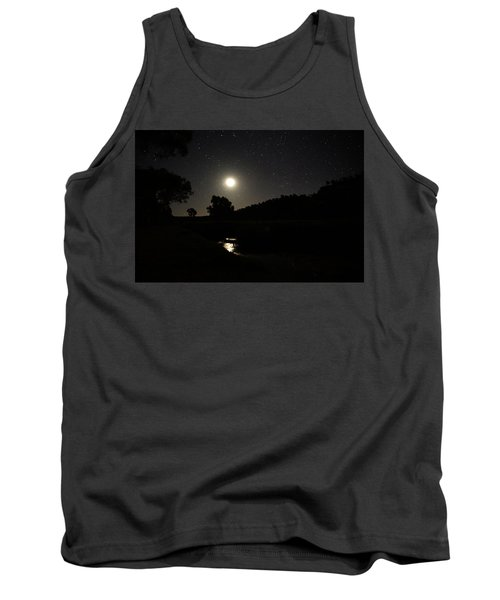 Tank Top featuring the photograph Moon Set Over Palm Valley 2 by Paul Svensen