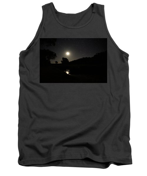 Moon Set Over Palm Valley 2 Tank Top