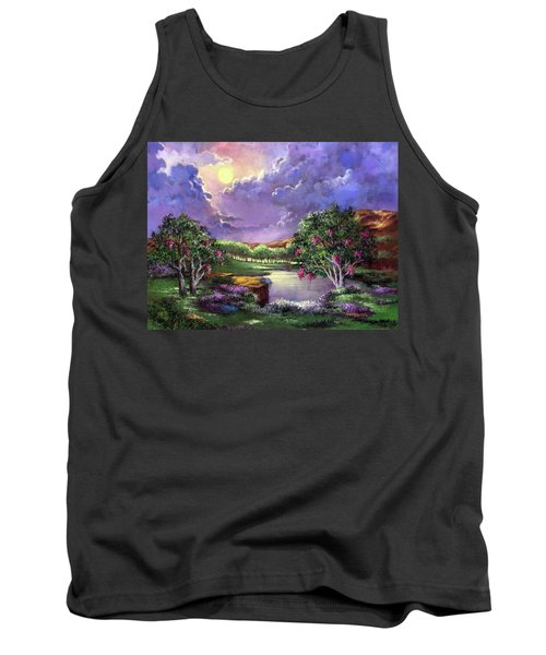Moonlight In The Woods Tank Top by Randy Burns