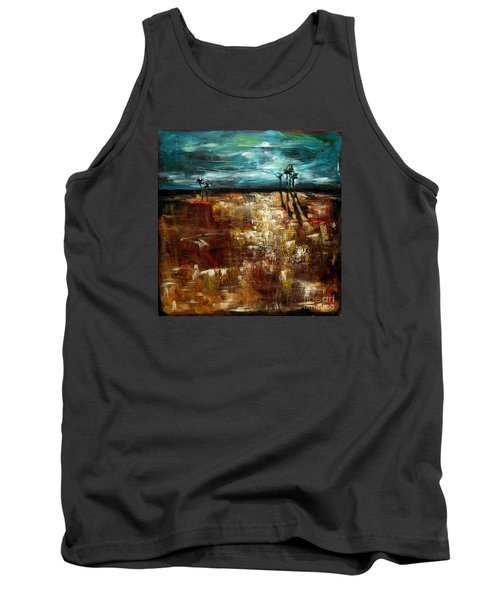 Moonlight Over The Marsh Tank Top