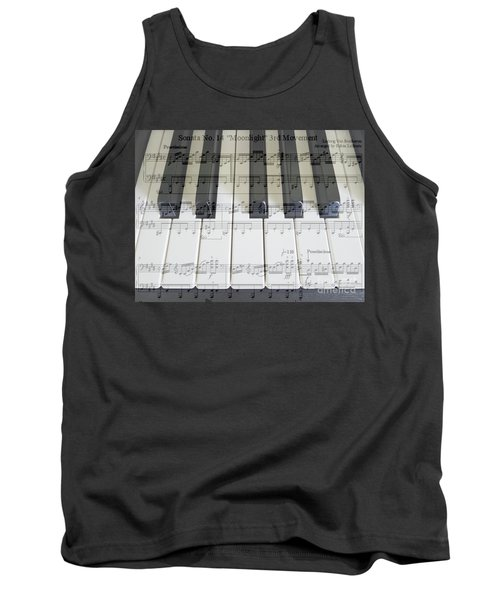 Moonlight Sonata 3rd Movement Tank Top by Hanza Turgul