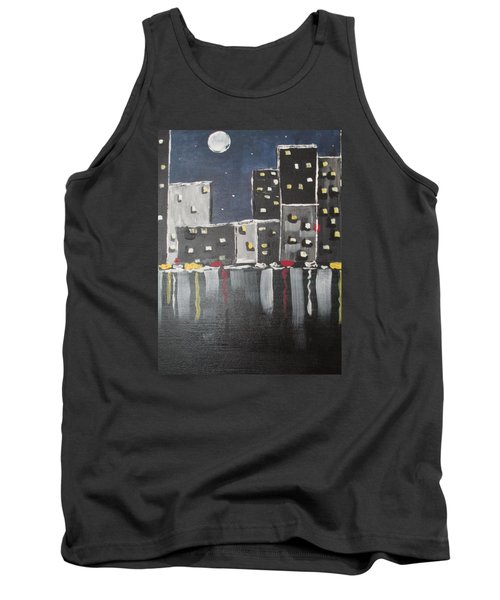 Tank Top featuring the painting Moonlighters by Sharyn Winters