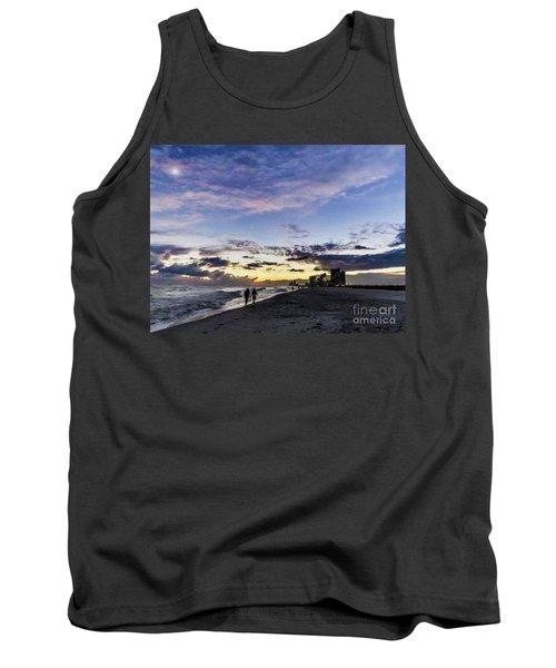 Moonlit Beach Sunset Seascape 0272d Tank Top
