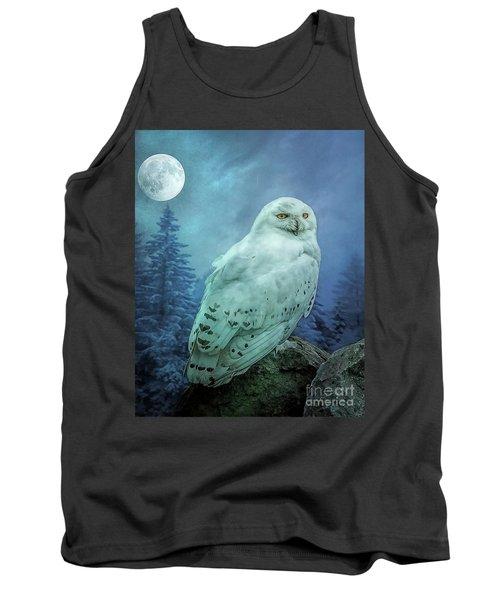 Moonlit Snowy Owl Tank Top
