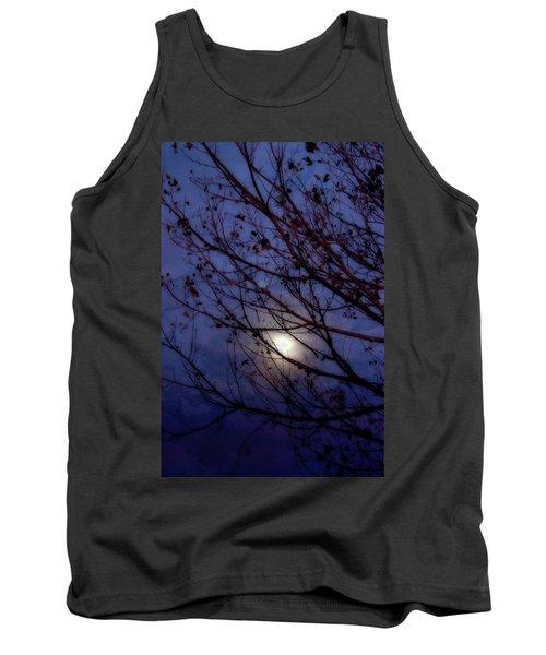 Tank Top featuring the photograph Moonrise by Ellen Heaverlo