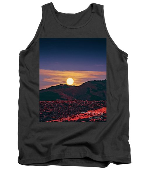 Moonrise In Northern New Mexico  Tank Top