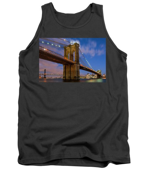 Moonrise Over Brooklyn Bridge Tank Top