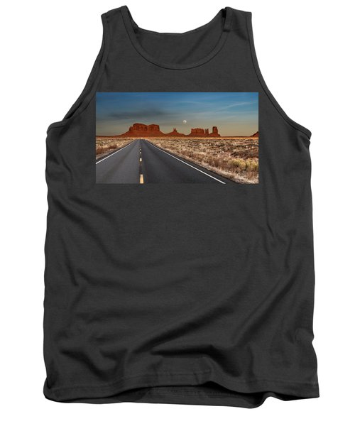 Moonrise Over Monument Valley Tank Top