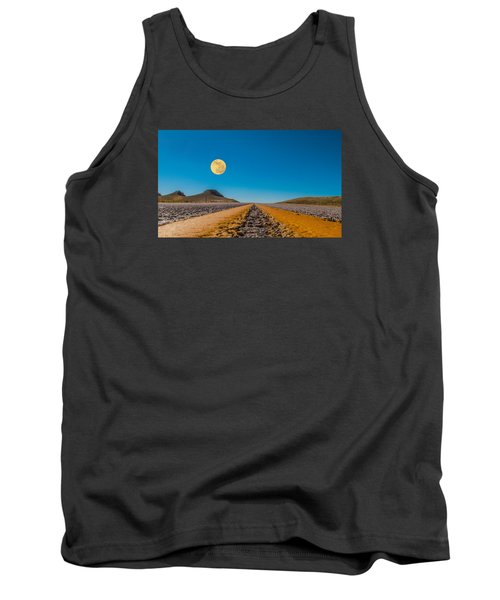 Moonrise Wyoming Tank Top by Don Spenner