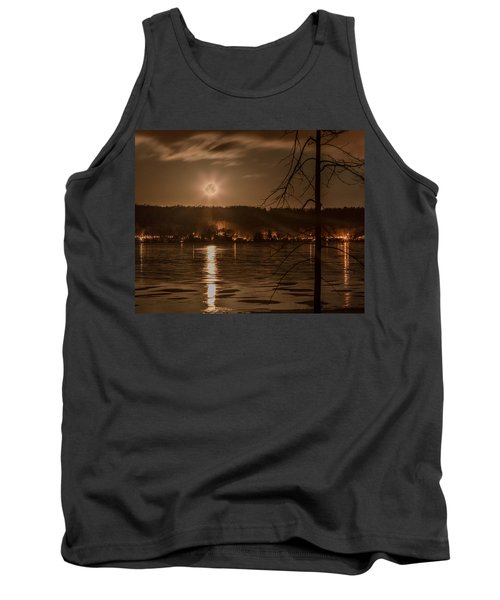 Moonset On Conesus Tank Top