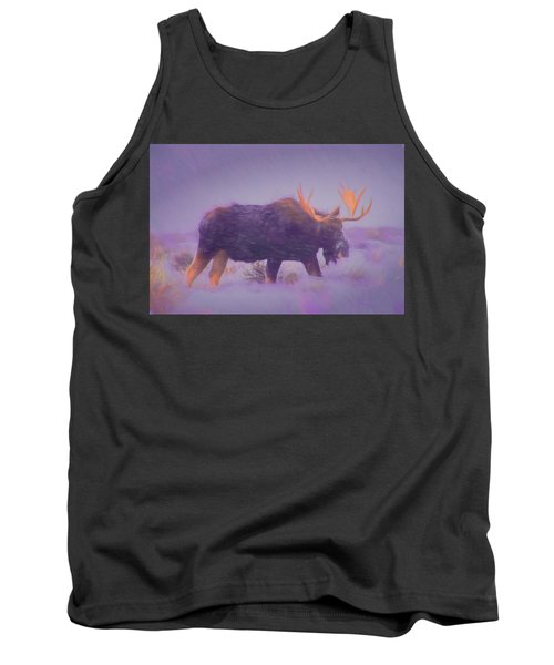 Moose In A Blizzard Tank Top