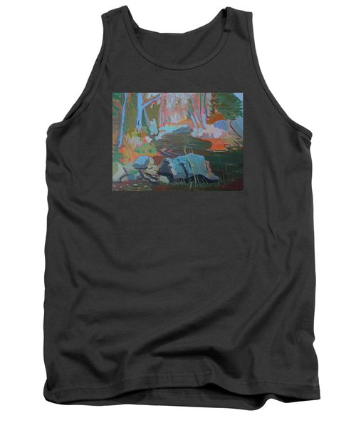 Tank Top featuring the painting Moose Lips Brook by Francine Frank