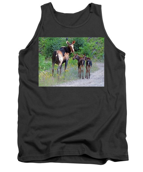 Moose Mom And Babies Tank Top