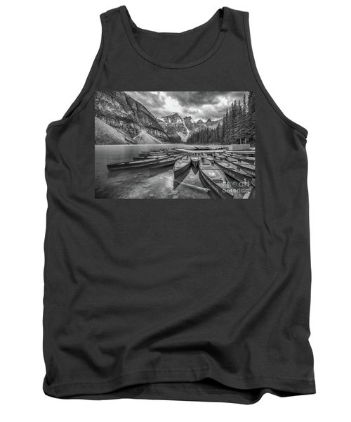 Moraine Lake In Black And White Tank Top