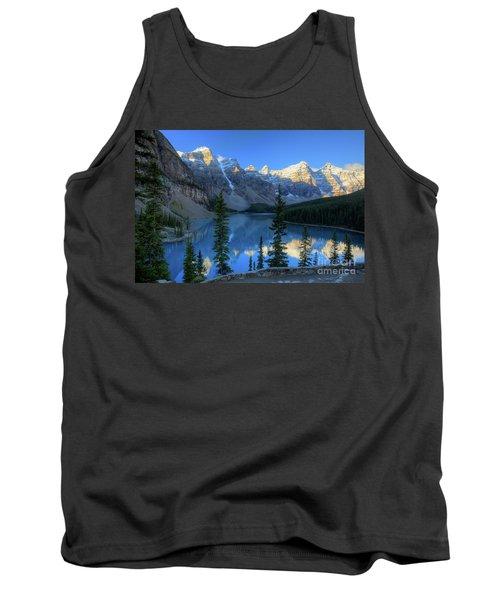 Moraine Lake Sunrise Blue Skies Tank Top