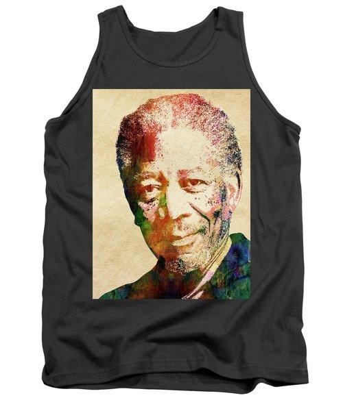 Morgan Freeman Tank Top by Mihaela Pater