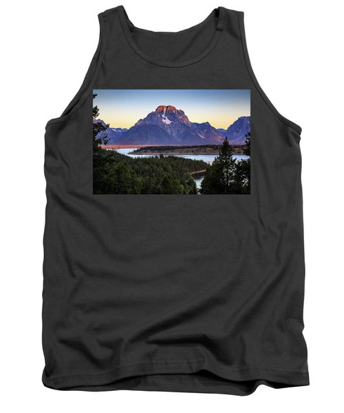 Tank Top featuring the photograph Morning At Mt. Moran by David Chandler