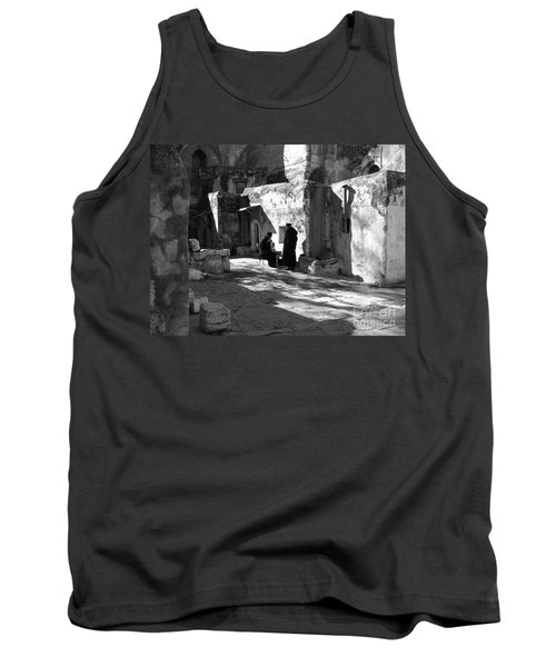 Morning Conversation In Bw Tank Top