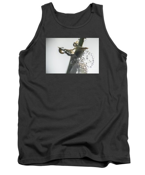 Tank Top featuring the photograph Morning Dew On A Web by Odon Czintos