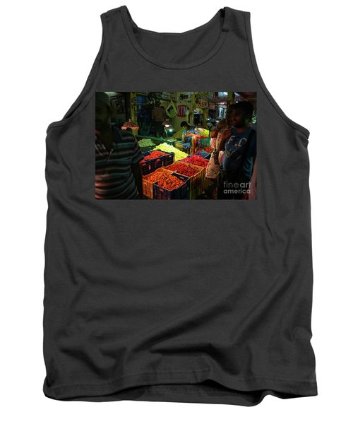 Tank Top featuring the photograph Morning Flower Market Colors by Mike Reid