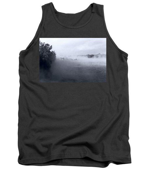 Tank Top featuring the photograph Morning Fog - Hudson River by John Schneider