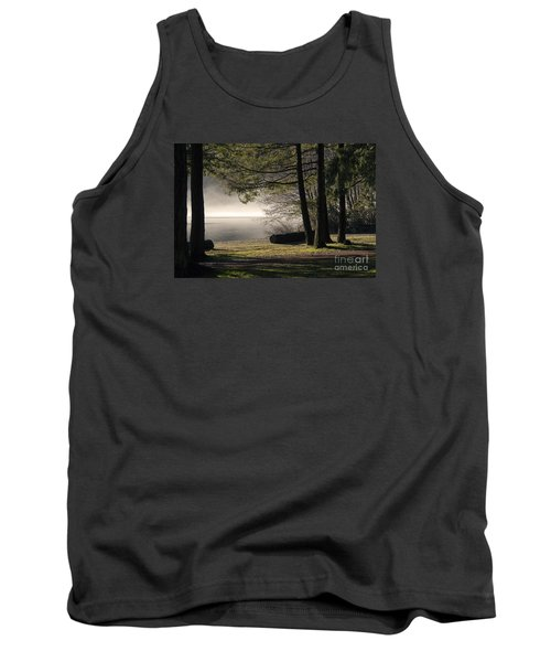 Tank Top featuring the photograph Morning Fog by Inge Riis McDonald