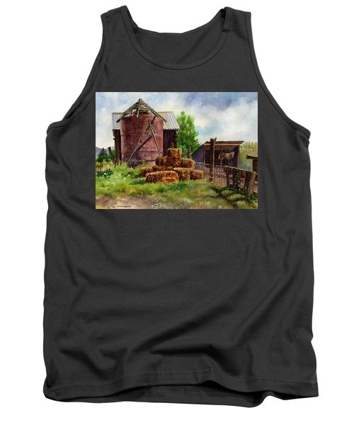 Tank Top featuring the painting Morning On The Farm by Anne Gifford