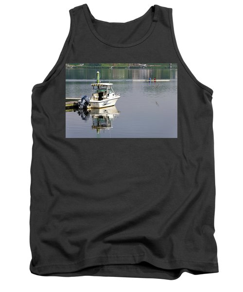 Tank Top featuring the photograph Morning On The Navesink River 2 by Gary Slawsky