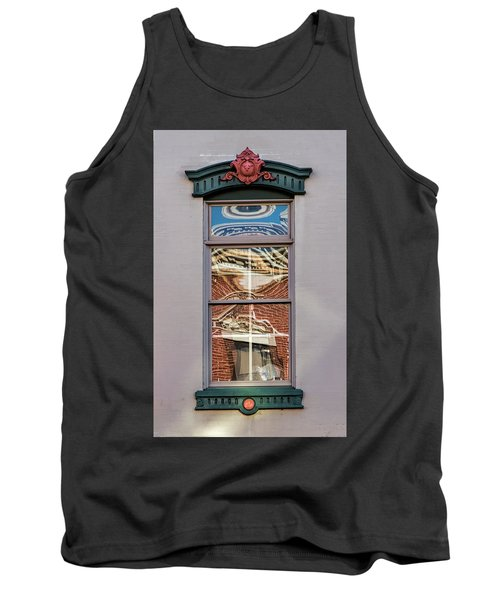 Morning Reflection In Window Tank Top by Gary Slawsky