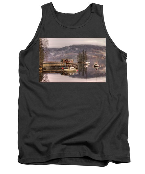 Morning Reflections Of Loch Ness Tank Top by Ian Middleton