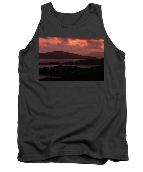 Morning Sunrise From St. Thomas In The U.s. Virgin Islands Tank Top by Jetson Nguyen